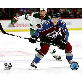 Nathan MacKinnon 2017-18 Aktion Fotodruck