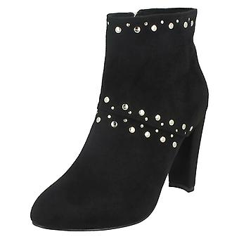 Ladies Anne Michelle Studded Trim Ankle Boots F50852