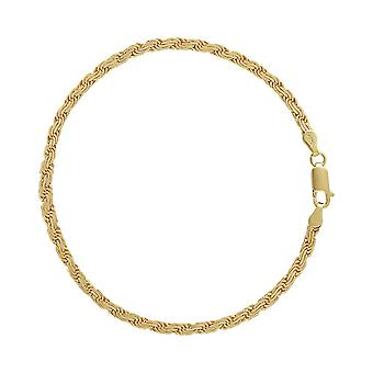 9ct 375 Gold Unisex Mens Womens Wavy Layered Rope Design Timeless Solid Bracelet