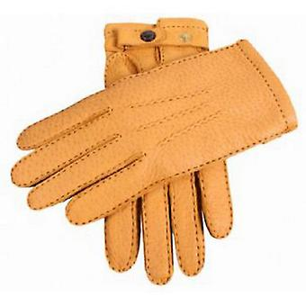 Dents Cork Handsewn Cashmere Lined Gloves Peccary Strap - Beige