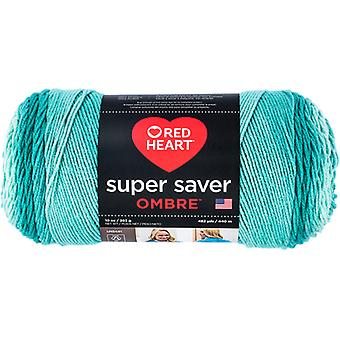 Red Heart Super Saver Ombre Yarn-Spearmint E305-3970