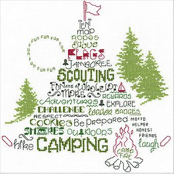 Let's Go Camping Counted Cross Stitch Kit-9