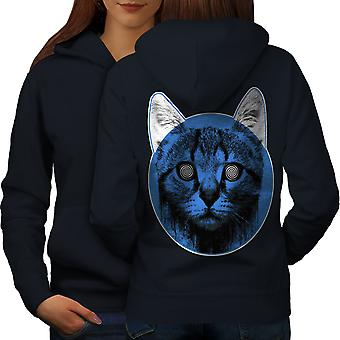 Médicaments visage Sublime chat femmes NavyHoodie dos | Wellcoda