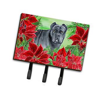 Carolines Treasures  CK1342TH68 Cane Corso Poinsettas Leash or Key Holder