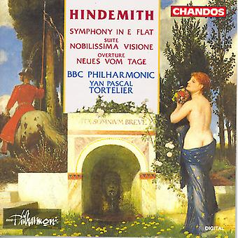 P. Hindemith - Hindemith: Symphony in E Flat; Nobilissima Visione; Neus Vom Tage [CD] USA importerer