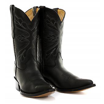 Grinders Dallas Black Womens Cowboy Boots