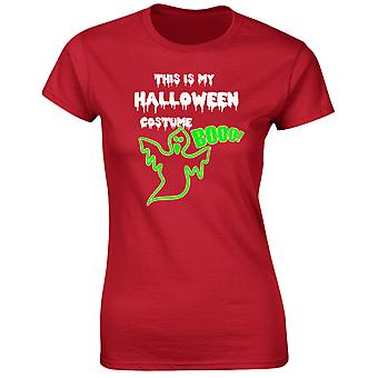 This Is My Halloween Costume Fancy Dress Glow In The Dark Halloween Womens T-Shirt 8 Colours (8-20) by swagwear