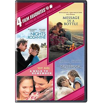 4 film-favorieten: Nicholas Sparks Collection [DVD] USA import
