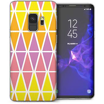 Samsung Galaxy S9 Pastel triángulo patrón Gel de TPU – púrpura
