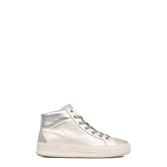 Crime London women's 25020KS110 silver/white leather Hi Top sneakers