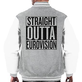 Straight Outta Eurovision mäns Varsity jacka