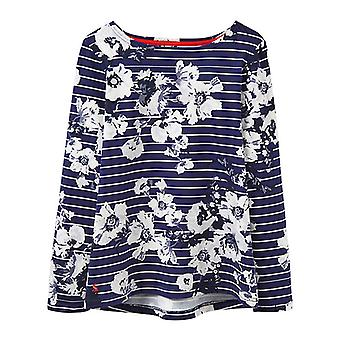 Joules Harbour Print Jersey Top French Navy Posy Stripe