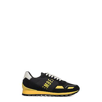 Bikkembergs men's BKE108984 yellow/black leather of sneakers