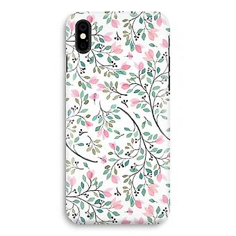 iPhone X Full Print Case (Glossy) - Dainty flowers