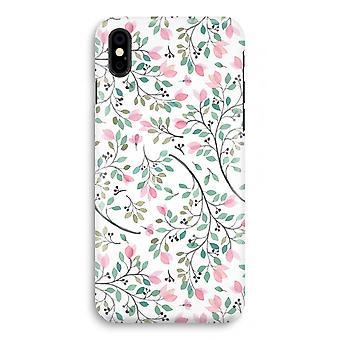 iPhone X Full Print Case - zierliche Blumen