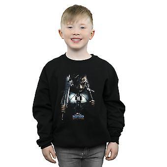 Marvel drenge sort panter Erik Killmonger Poster Sweatshirt