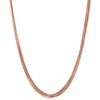 Länkar av London Essentials Silk 18Kt Rose Gold Vermeil 10 rad halsband