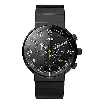 Braun Men's Quartz Watch with Analogue Display and Bracelet