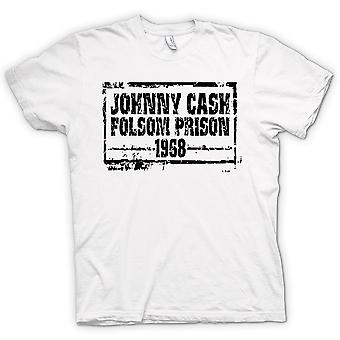 Womens T-shirt - Johnny Cash Folsom Prison 68 - Country Legend