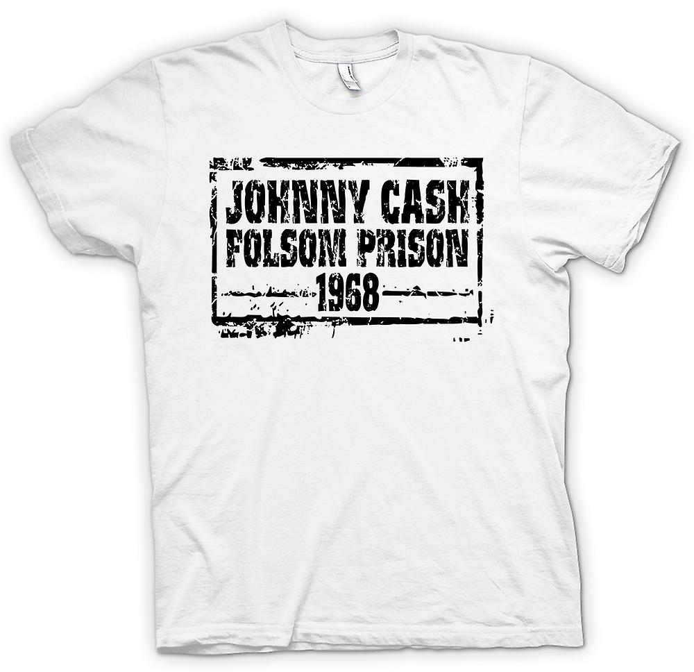 Mens T-shirt - Johnny Cash Folsom Prison 68 - Country Legend