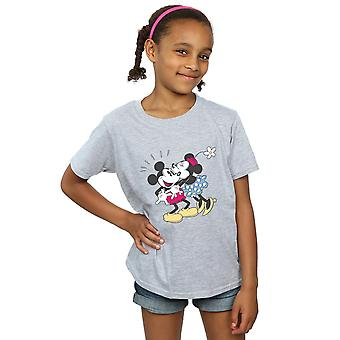Disney Girls Mickey And Minnie Mouse Kiss T-Shirt