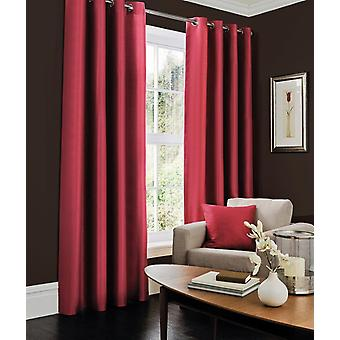 Faux Silk Eyelet Curtain All Sizes
