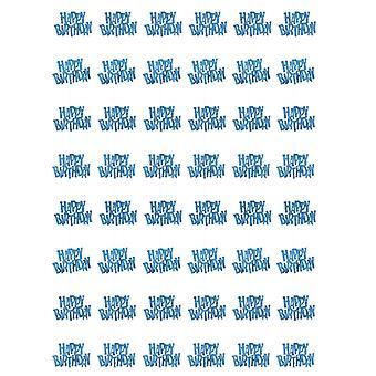 Anniversaire Glitz bleu - joyeux anniversaire prisme suspendus décoration