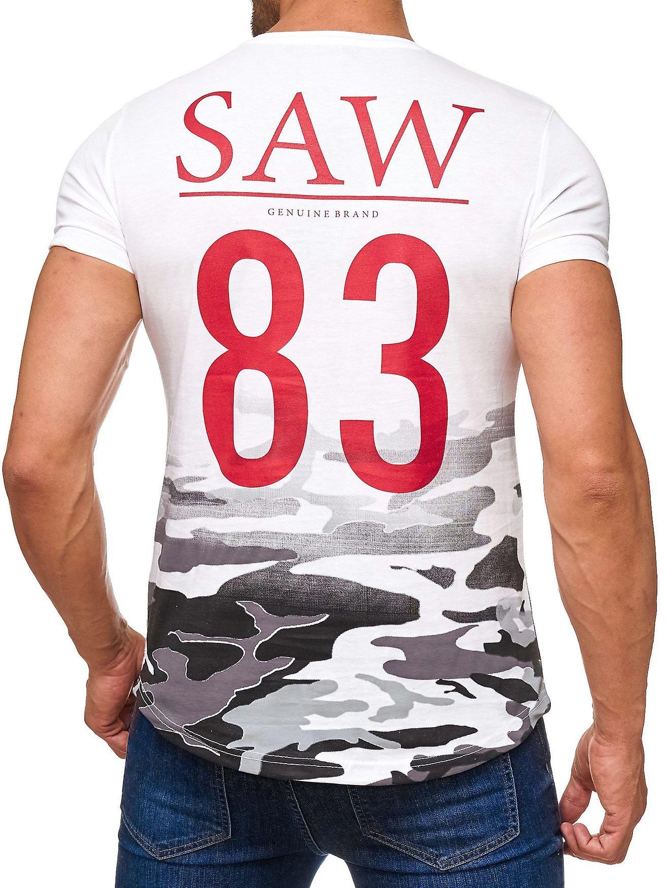 Herren T-Shirt Kurzarm Shirt O-Neck Allover Print Aufdruck Camouflage