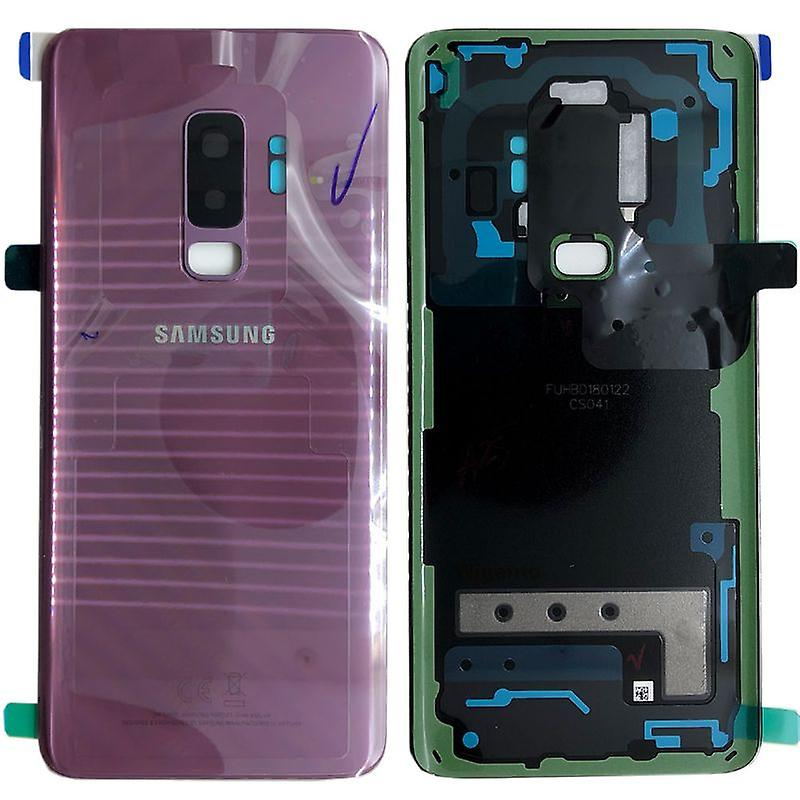 Samsung GH82-15652B batteridekselet dekselet for Galaxy S9 pluss G965F + lim pad lilla lilla lilla nye