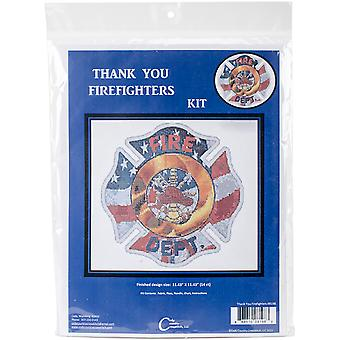 Thank You Firefighters Counted Cross Stitch Kit-11.5