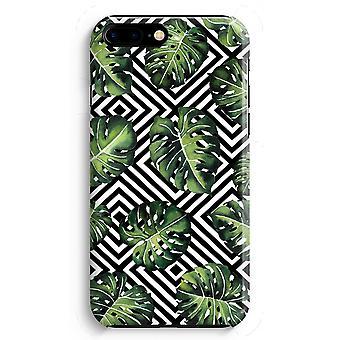 iPhone 8 に加えて、フル印刷ケース (光沢のある) - 幾何学的なジャングル