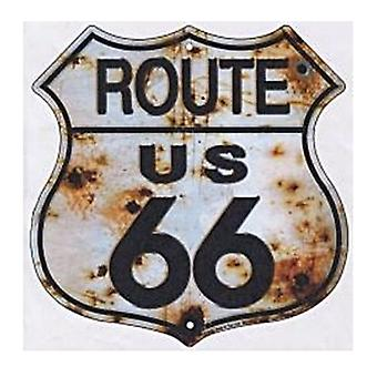 Маршрут 66 щит «Выстрелил в» металлический знак