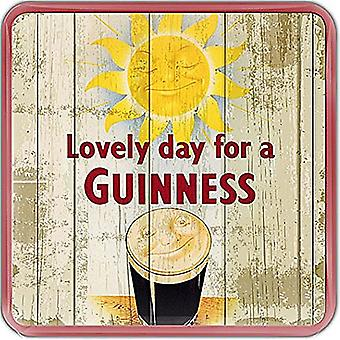 Guinness Smiling Pint / Sun Cork Backed Drinks Coaster 100Mm X 100Mm