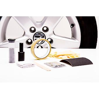Aluminum wheel repair kit for car and motorcycle silver