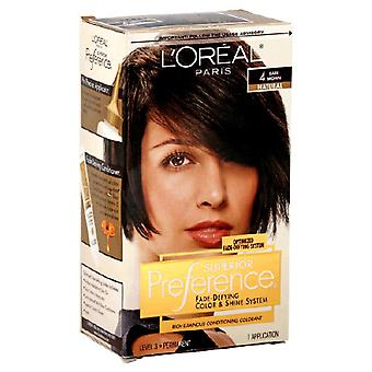 L'oréal Paris Fade-defying Color And Shine, 4 Dark Brown, 1 Ea