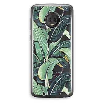 Motorola Moto G6 Plus Transparent Case (Soft) - Banana leaves