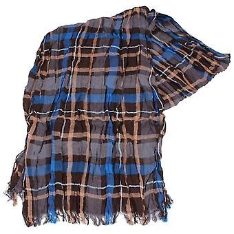 Knightsbridge Krawatten Check Baumwolle Schal - blau/braun