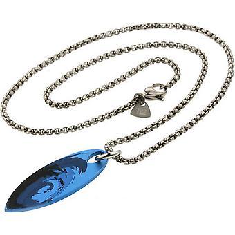 Ti2 titanio tabla de surf Wave lámpara colgante - plata/azul