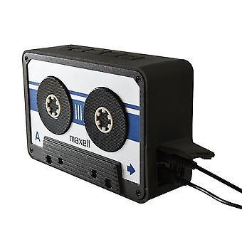 Maxell BT90 Retro Cassette Bluetooth v 4.1 altavoces plata/negro