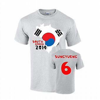 Sydkorea 2014 land flagga T-shirt (ki 6)