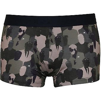 Hom Camo People Print Boxer Trunk, Khaki