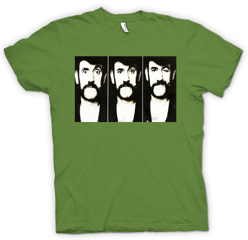 Mens T-shirt - Lemmy - Motorhead - BW - Foto-Folie