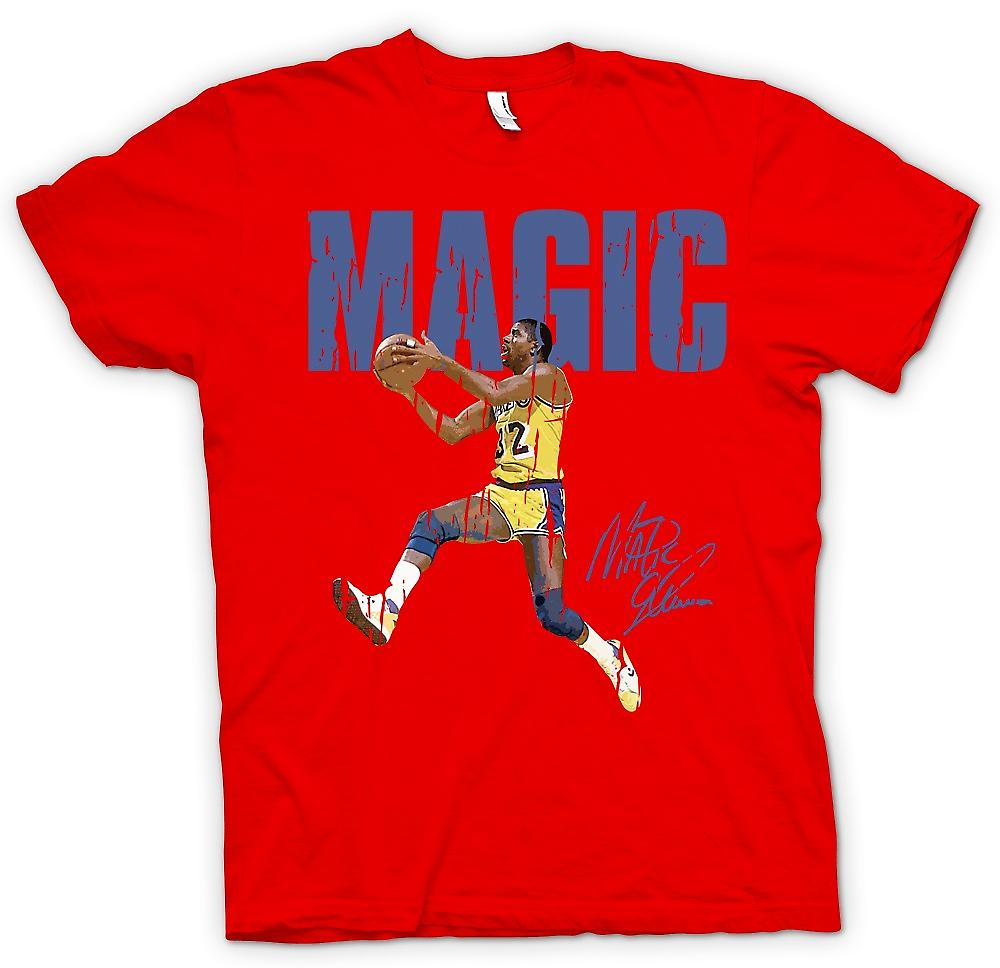 Mens T-shirt - saut d'obstacles magiques - Cool Basketball