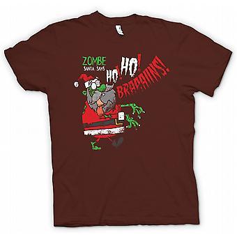 تي شيرت رجالي-سانتا غيبوبة يقول هو هو العقول-مضحك