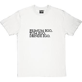 T-shirt primum Ego Ego Tum Deinde Ego masculino
