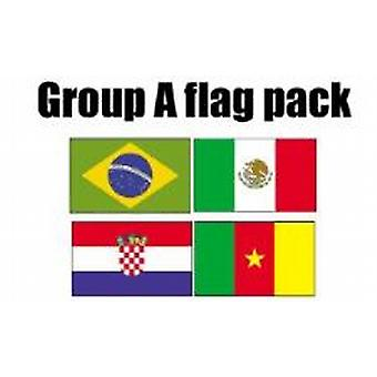 GROUP A Football World Cup 2014 Flag Pack (5ft x 3ft)