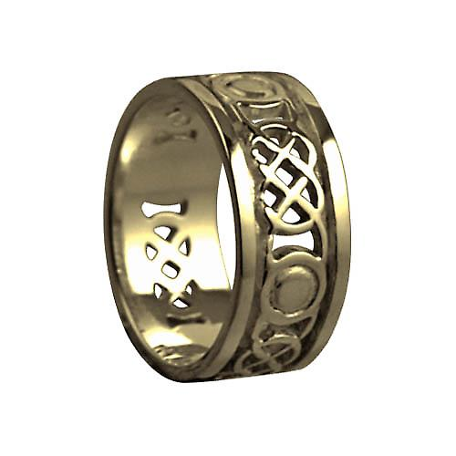 9ct Gold 8mm Celtic Wedding Ring Size P