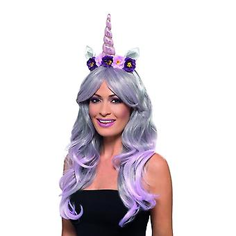 Womens Einhorn Stirnband Fancy Dress Zubehör