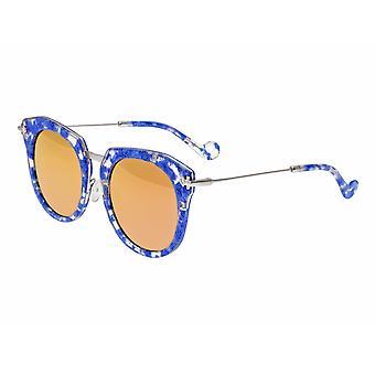Bertha Aaliyah Polarized Sunglasses - Blue Tortoise/Rose Gold