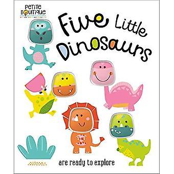 Petite Boutique fem små dinosaurier [styrelse bok]